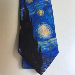Ralph Marlin Van Gogh Starry Night Tie